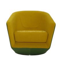Уникальный дизайн U-повернуть ткань вращающееся кресло