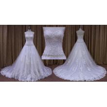 Vestido de novia sin tirantes Impresionante vestido de novia