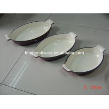 panela de esmalte de panela de ferro fundido panela / panela