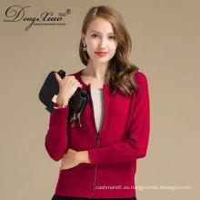 Suéter de cachemira de las mujeres a estrenar de la moda de otoño e invierno, suéter de color puro
