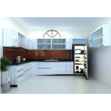 Hochglanz-Küchenschrank