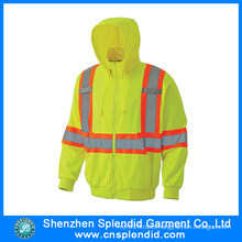 Custom Men Hi Vis Fire Resistant Hoodies with Reflective Tripes