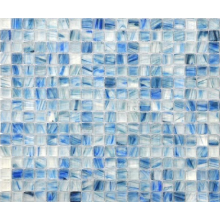 Tie-dye glass crystal mosaic for swimming pool