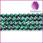 Wholesale fashion semi precious tiger eye green gemstone jewelry bead