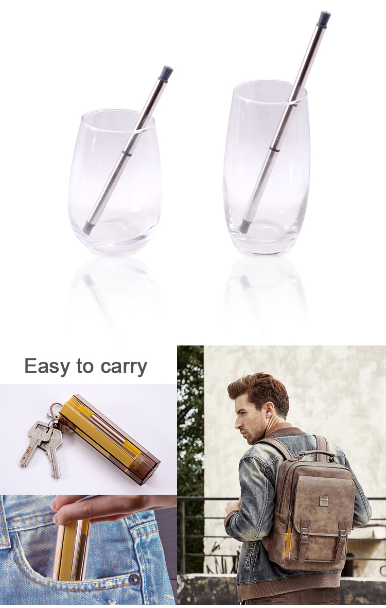 Foldable Drinking Straws with Case