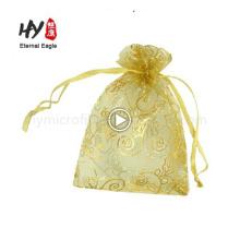 Bolsas de regalo de organza impresas personalizadas con registro