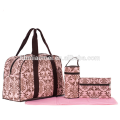 Latest popular adult baby diaper bag new fashion Fitness package 4 pcs set diaper bag baby for nappy changing