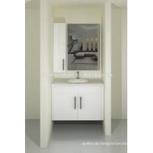Australien-Art-modernes Backen-Anstrich-Lack-Wand-angebrachter Badezimmer-Eitelkeits-Schrank-Satz mit Quarz-Arbeitsplatte für Verkauf