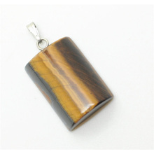 Semi Cylinder Shape Yellow Tiger eye pendant