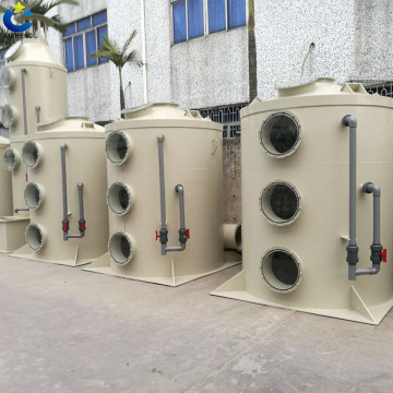 Exhaust fume asborption gas scrubber/gas cleaner