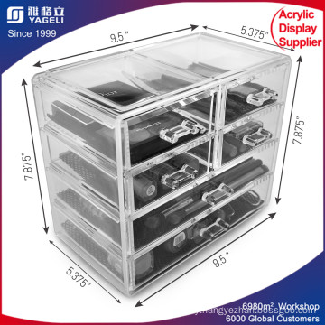 Acrylic Makeup Organizer 4-Drawer Stack with Lid