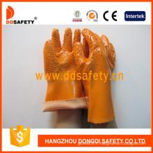 Gants chimiques de travail, gants orange de PVC (DPV105)