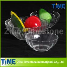 Venta al por mayor cristales de vidrio transparente Sweet Bowls