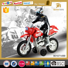 Friction power mini toy plastic motorcycle with light and IC