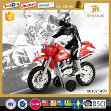 Motocicleta do plástico do brinquedo do poder da fricção com luz e IC