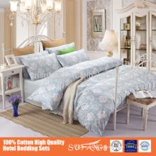 60S 100% algodão reativa impresso padrão Floral Duvet Set, todos os tamanhos e cores