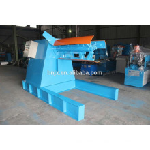 5T hydraulic steel coil decoiler machine with loading car for sale, Hydraulic decoiler with coil car