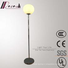 Lampe de plancher debout ronde décorative d'acier inoxydable moderne d'hôtel