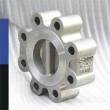 Válvula de retención de doble placa de acero fundido