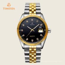 Herren Stahlband Armbanduhr mit schwarzem Zifferblatt 72410