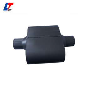 Aluminised short universal baffled car muffler