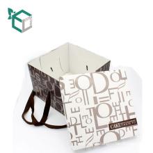 Qualité alimentaire Personnalisé pas cher en gros papier gâteau carton avec poignée