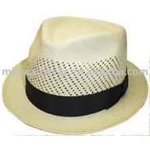 Sombrero de paja de papel con banda