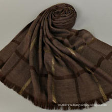 Casual style wholesale price stripe pattern long 180*80 cotton stole dubai tudung shawl scarf