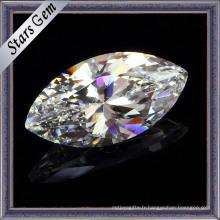 Marquise Shape White Cubic Zircon Gemstone