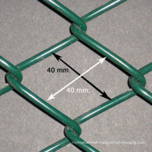 2013 5ft 48mm hole 2-2.6mm wire plastic coated cheap chain link fence mesh+post+accessories(professional manufacture)
