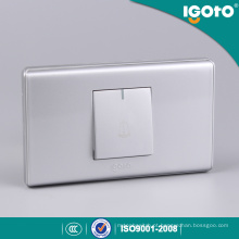 118 Tipo Silver Color 1 Gang Door Bell Switch