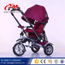 Triciclo del bebé del triciclo de Alibaba 2016 plegable / nuevo diseño fácil del trike del niño / más color elige 4 en 1 triciclo del bebé
