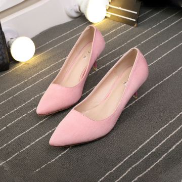 2019 Women 's Pointed Toe 미들 힐 슈즈