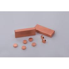 Ímã de neodímio de formas diferentes com revestimento de cobre