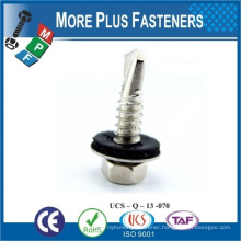 Made in Taiwan Aluminum customized Hex Washer Head