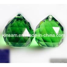 Pièces de cristal vert pour les lustres accessoires pendentif en cristal (ks28019)