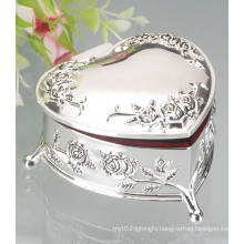 Silver Plated Metal Jewelry Box, Metal Necklace Box