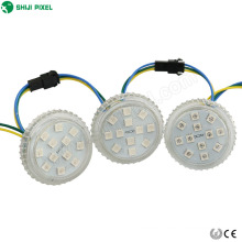 50mm flat amusement pixel ucs2903 rgb led module light cabochon 12leds point light