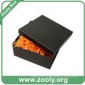 Caixa de presente de papelão de papelão preto quadrado com tampa
