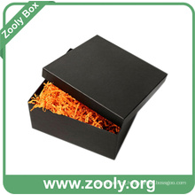 Black Square Cardboard Paper Gift Box with Lid