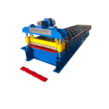 Bumbung bumbung trapezoid Certificated Roll Forming Machine