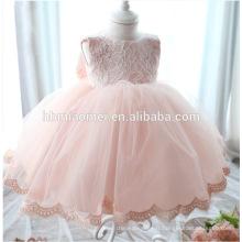 2016 nouveau design vente chaude rose couleur dentelle wester porter robe fille de mariage en gros