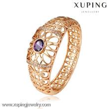 51115 bijoux simples de conception de Xuping bijoux bracelets plaqués or avec partie