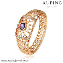 51115 Xuping Jewelry Simple design Gold Plated Bangles with Party Need