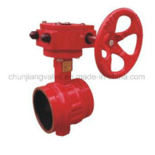 Fire Protection Clamp Worm Gear Drive Butterfly Valve