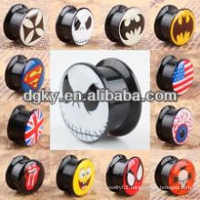 Wholesale resin ear tunnel piercing jewery