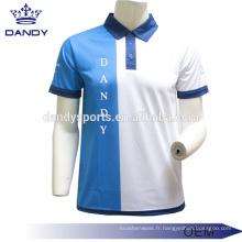 Maille tissu polo t-shirt pour les hommes