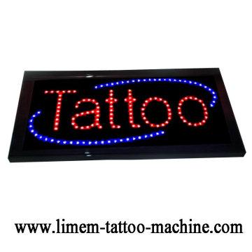 черный цифровой татуировки татуировки светодиодная вывеска