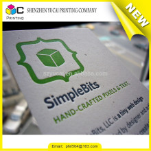 Silk screen embossing luxury business card template design printer
