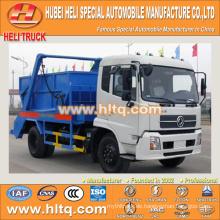 Neue DONGFENG 4x2 10cbm 190hp schwingender Arm Müllwagen überspringen Lader Sanitär Fahrzeug Müll LKW Fabrik direkt